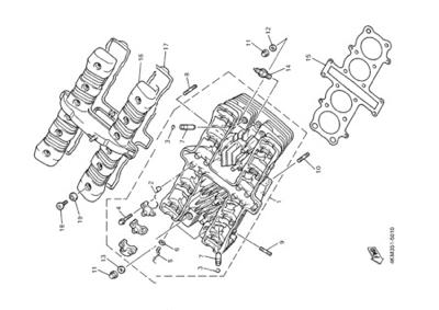 Yamaha XJ900S DIVERSION 2000 CYLINDER HEAD