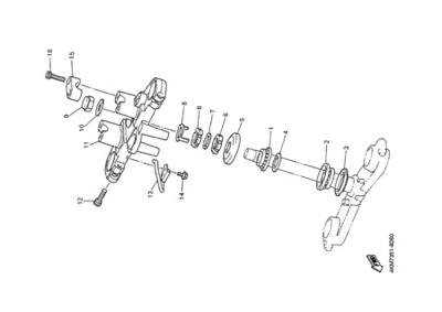 Yamaha XJ900S DIVERSION 2000 STEERING