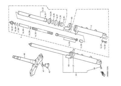 Yamaha XJ900S DIVERSION 2000 FRONT FORK