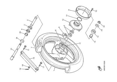 Yamaha XJ900S DIVERSION 2000 REAR WHEEL