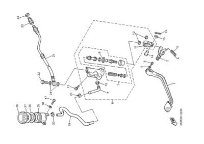 Yamaha XJ900S DIVERSION 2000 REAR MASTER CYLINDER