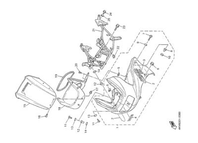 Yamaha XJ900S DIVERSION 2000 COWLING 1