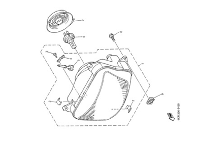 Yamaha XJ900S DIVERSION 2000 HEADLIGHT 2