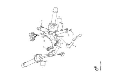 Yamaha XJ900S DIVERSION 2000 HANDLE SWITCH & LEVER