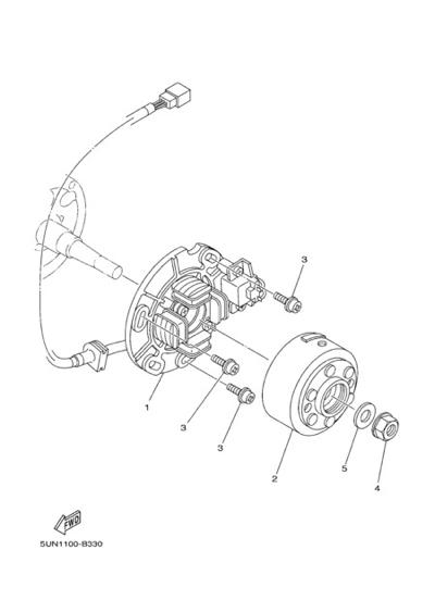 Yamaha YZ125 2004 GENERATOR