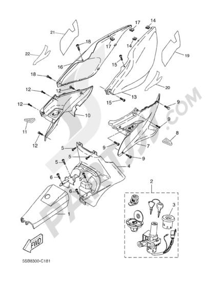 Yamaha AEROX REPLICA 2004 SIDE FAIRING / COWLING