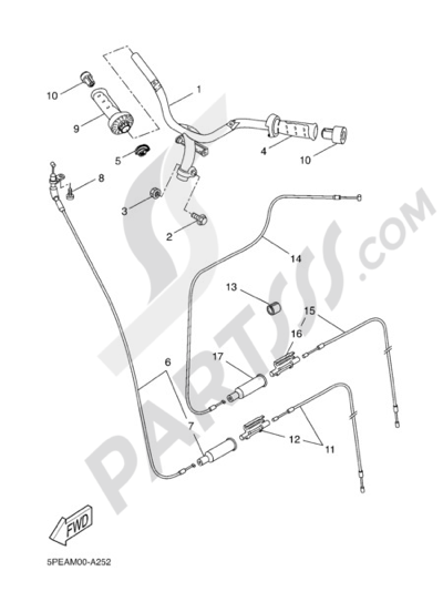 Yamaha AEROX REPLICA 2004 HANDELBAR AND CABLES