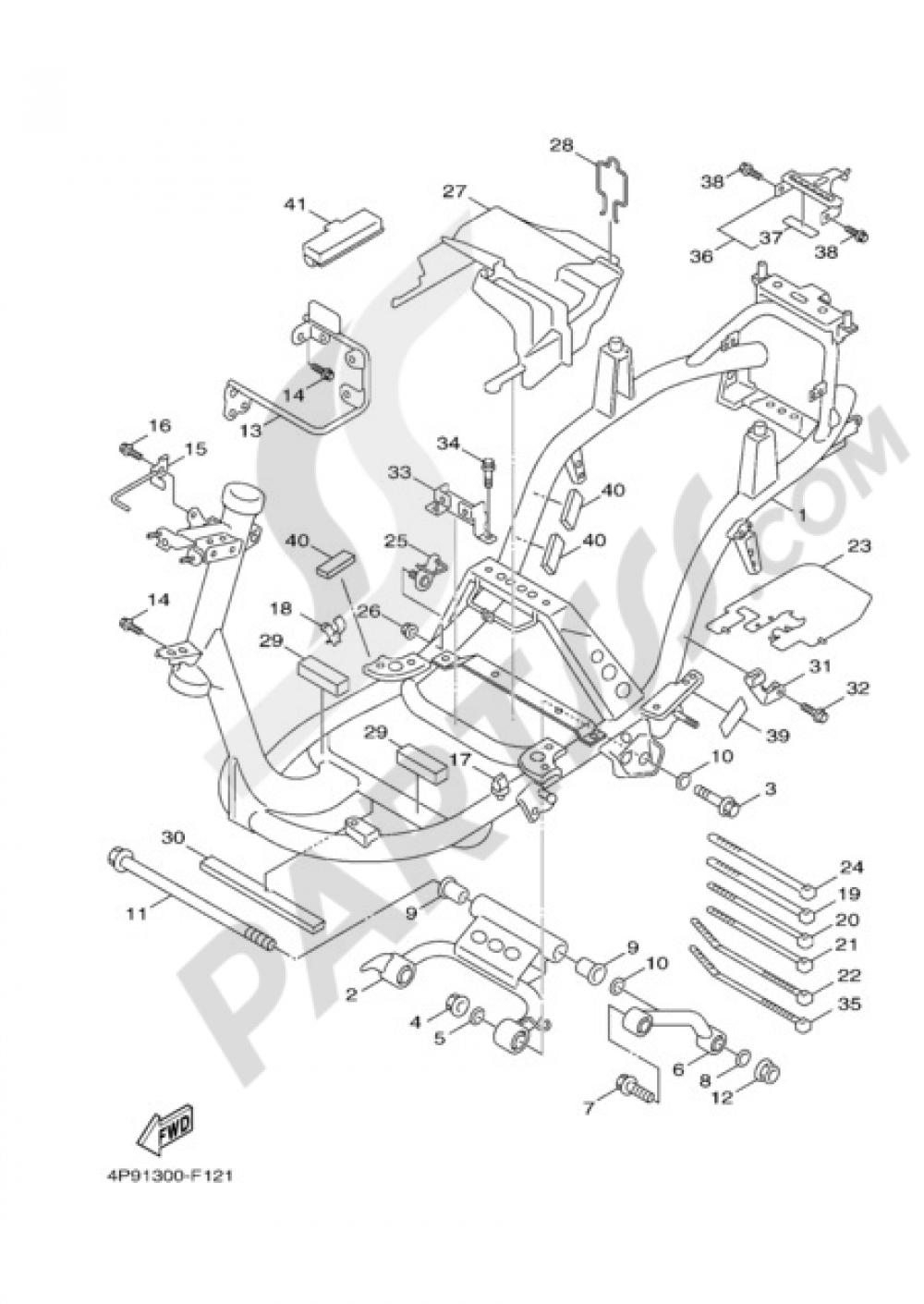 FRAME Yamaha Cygnus X 125 2009