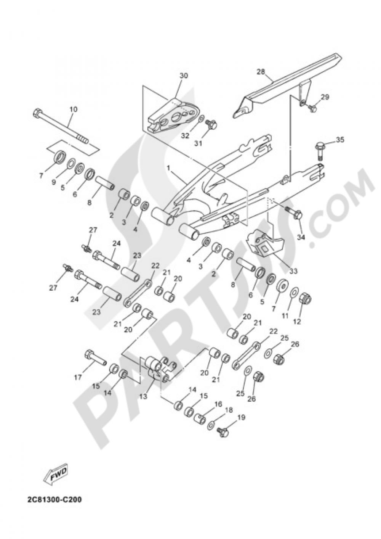 REAR ARM Yamaha DT125X 2005
