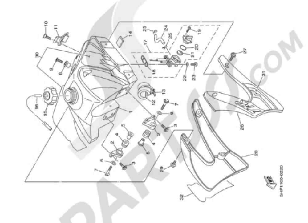 FUEL TANK Yamaha TT-R125 2000