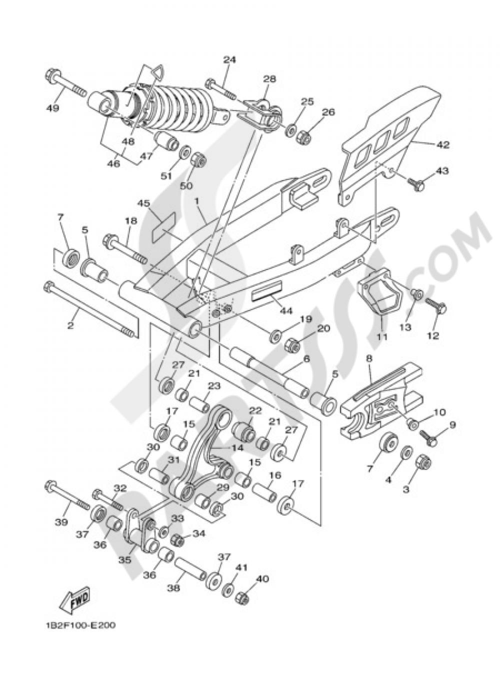 REAR ARM & SUSPENSION Yamaha TT-R125 2006