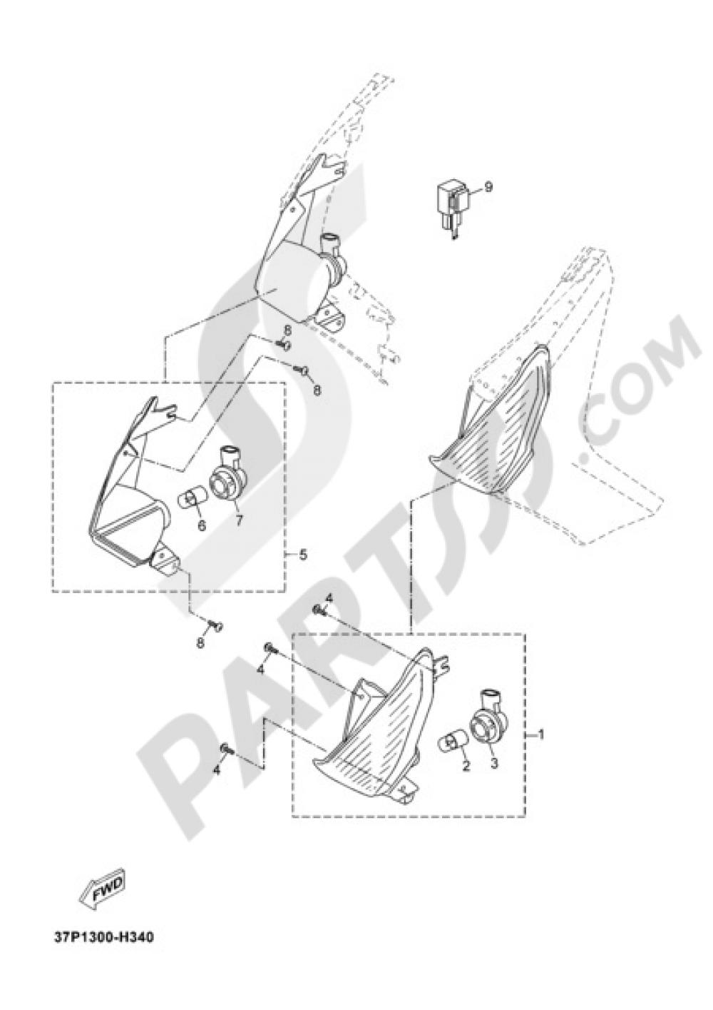 SIGNAL LIGHT Yamaha X-Max 125 2012