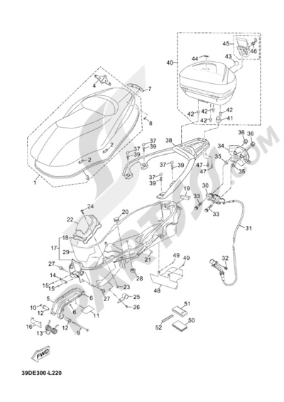 Yamaha X Max 125 Abs Business 2012 Dissassembly Sheet Purchase