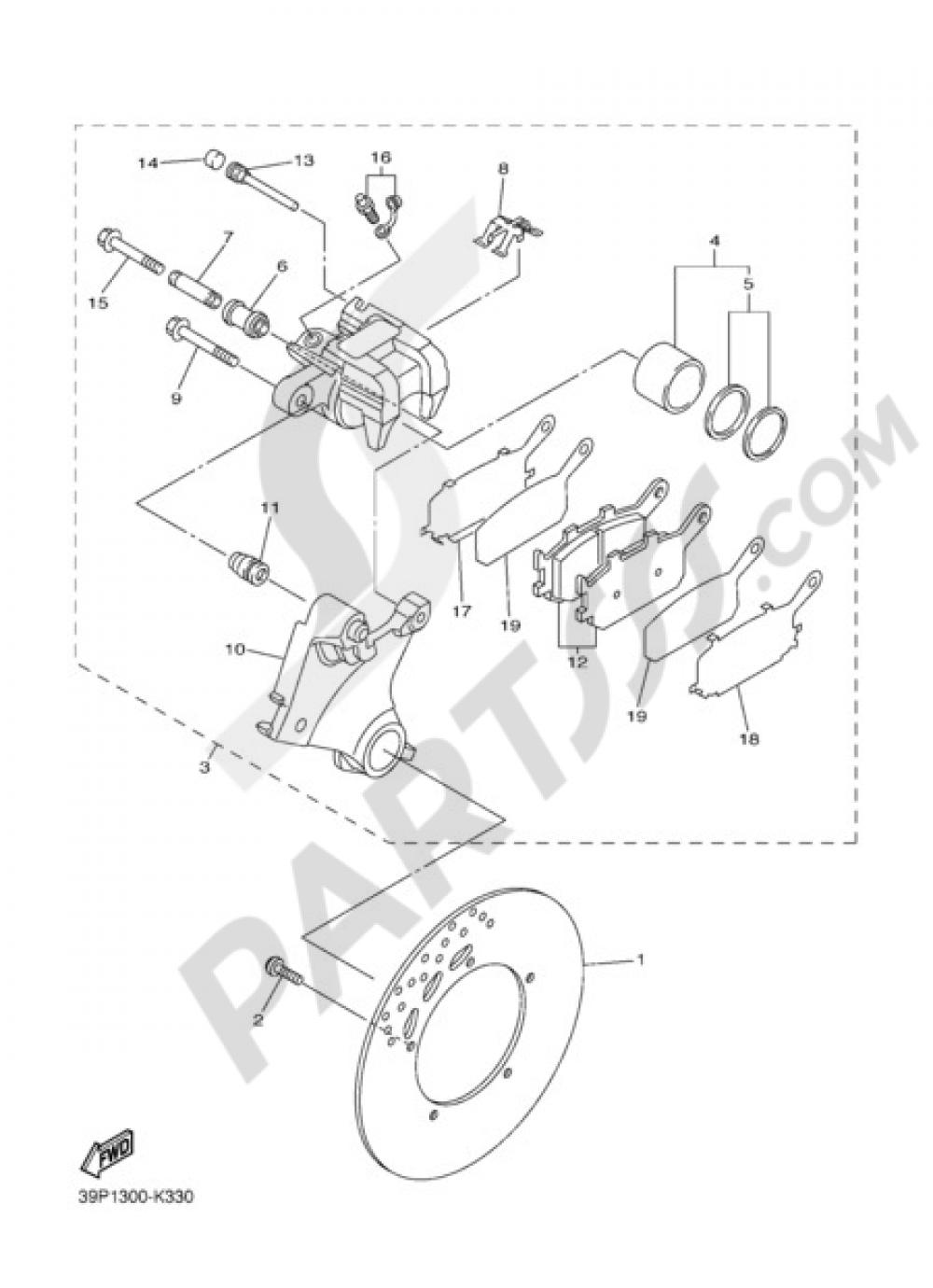 REAR BRAKE CALIPPER Yamaha Fazer8 2012