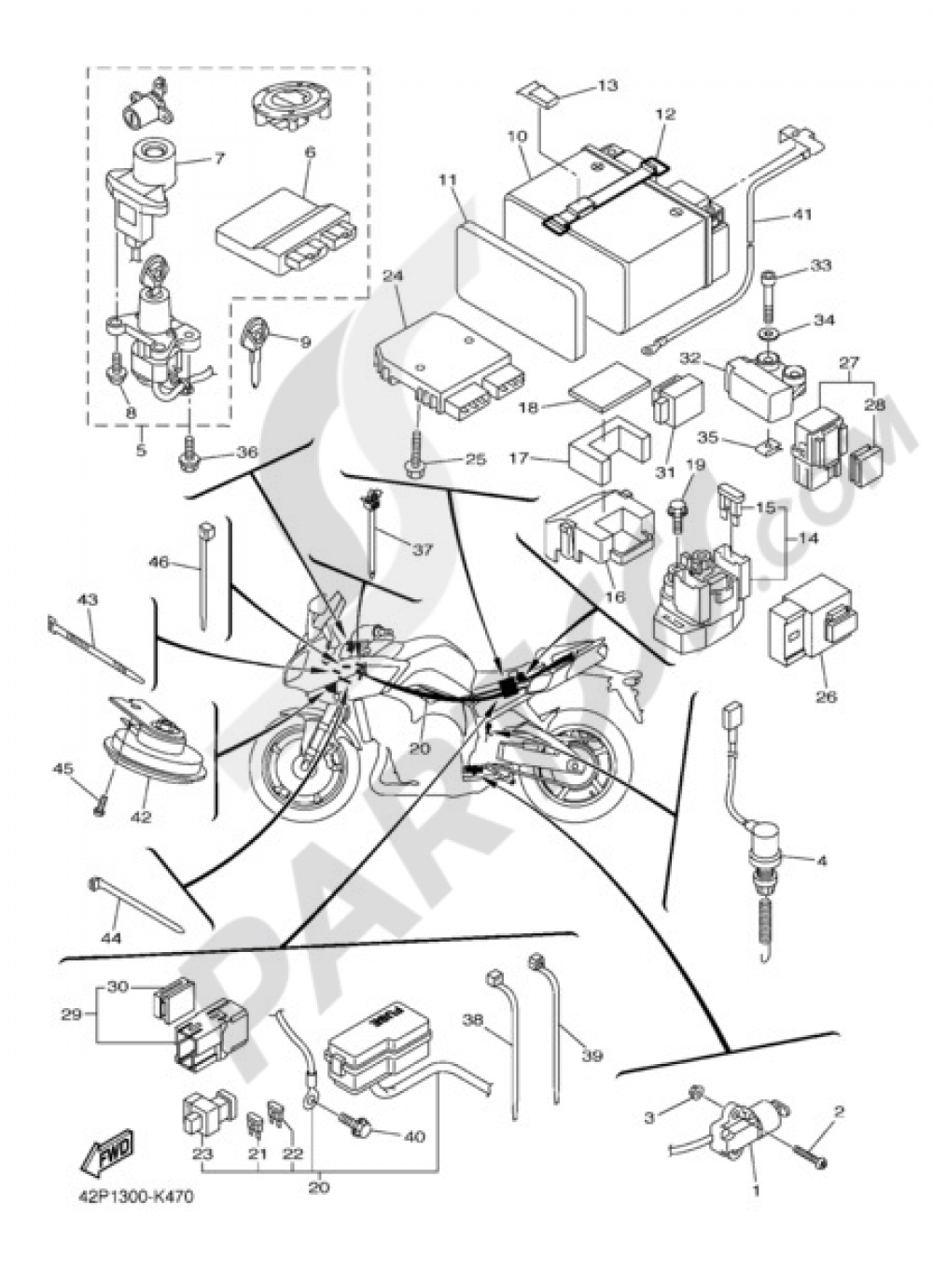 ELECTRIC EQUIPMENT 2 Yamaha Fazer8 2012