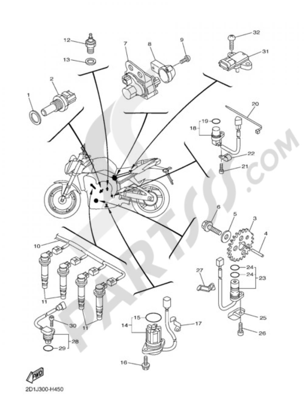 ELECTRIC EQUIPMENT 1 Yamaha FZ1 ABS 2012