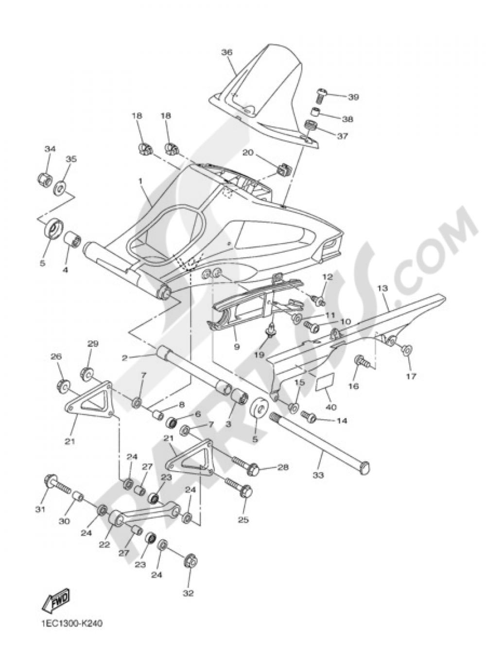 REAR ARM Yamaha FZ1 Fazer 2012