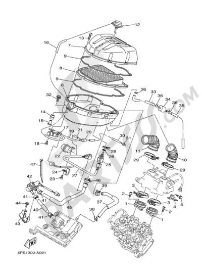 Yamaha TDM 900 2005 INTAKE