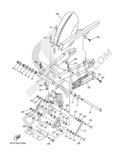 Yamaha TDM 900 2005 REAR ARM