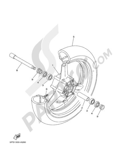 Yamaha TDM 900 2005 FRONT WHEEL
