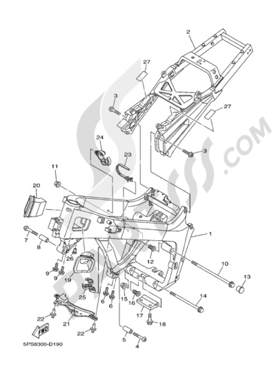 Yamaha Tdm 900 2006 Dissassembly Sheet Purchase Genuine Spare Parts