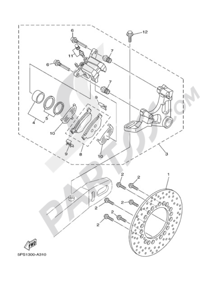 Yamaha Tdm 900 2007 Dissassembly Sheet Purchase Genuine Spare Parts
