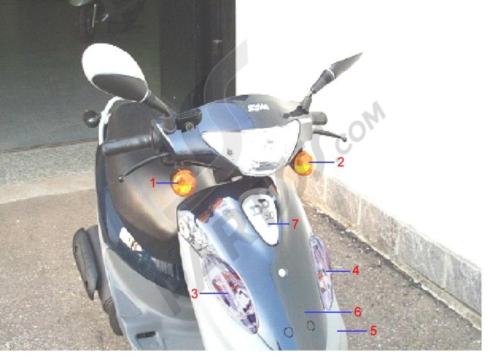 Frontal Guardabarros Delantero Sym Dd50 X