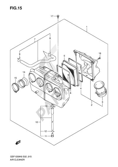 suzuki bandit gsf1200sa 2006 dissassembly sheet  purchase genuine spare parts online