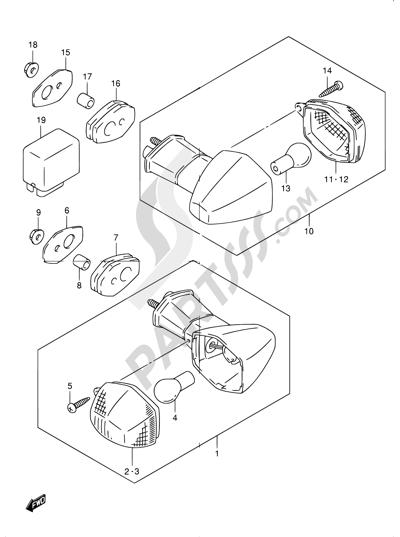 Suzuki BANDIT GSF1200Z 2005 31 - TURN SIGNAL LAMP (GSF1200K1/K2/K3/K4/ZK4/K5/ZK5)