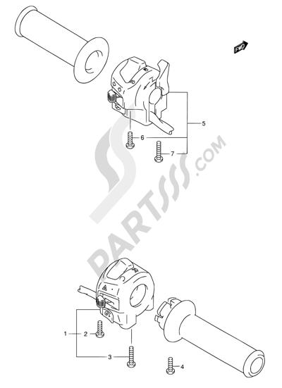 Suzuki BANDIT GSF1200Z 2005 36A - HANDLE SWITCH (GSF1200K3/K4/ZK4/K5/ZK5)