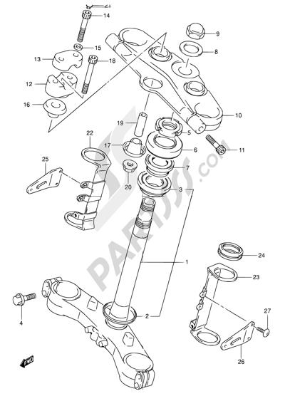Suzuki BANDIT GSF1200Z 2005 58 - STEERING STEM (GSF1200K1/K2/K3/K4/ZK4/K5/ZK5)