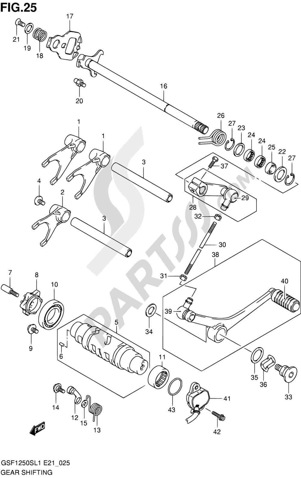 25 - GEAR SHIFTING Suzuki BANDIT GSF1250SA 2011