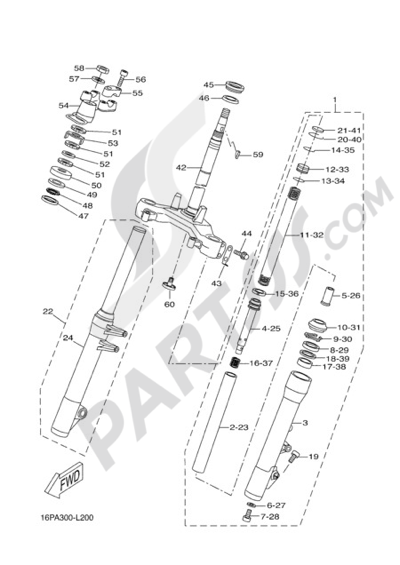Yamaha X-City 250 2012 STEERING