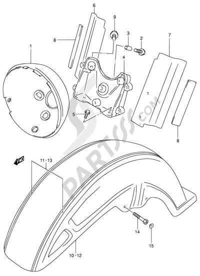 Suzuki Intruder Vl1500 2004 Dissassembly Sheet Purchase Genuine