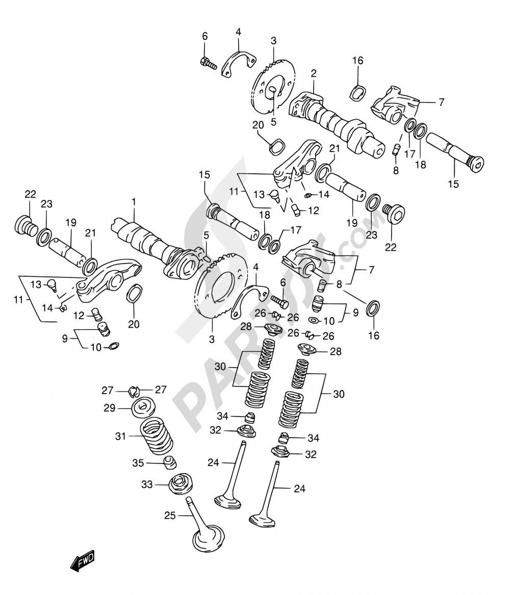 8 - CAMSHAFT/VALVE Suzuki INTRUDER VL1500 1999