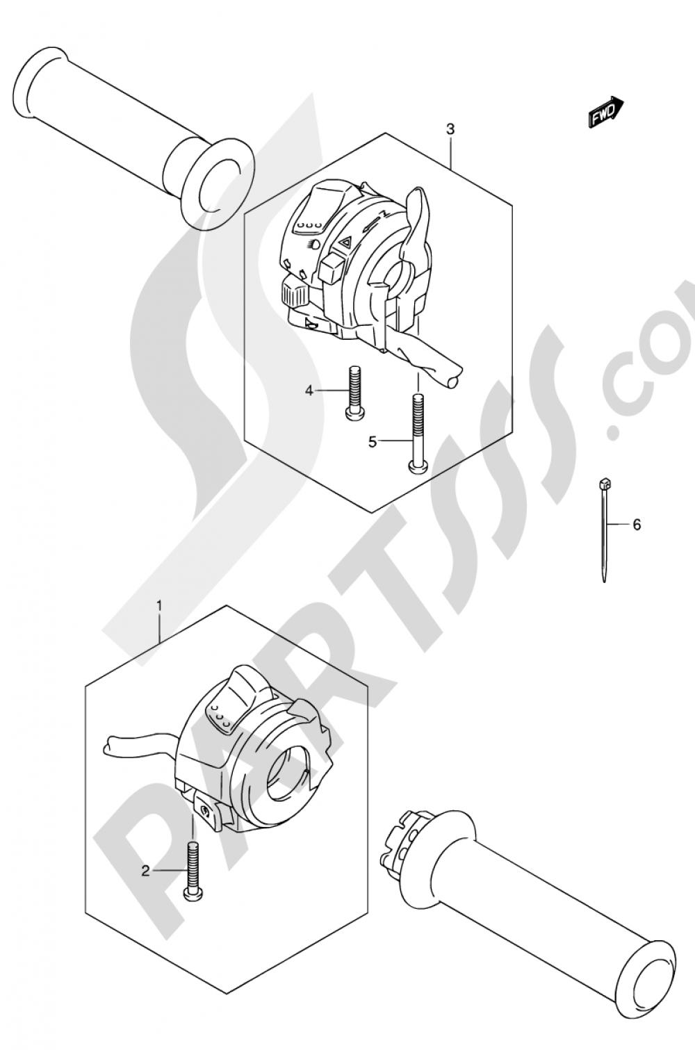 35 - HANDLE SWITCH Suzuki BANDIT GSF650SA 2005