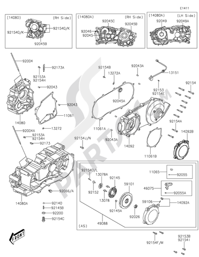 Kawasaki Brute Force 300 2016 Dissassembly Sheet Purchase
