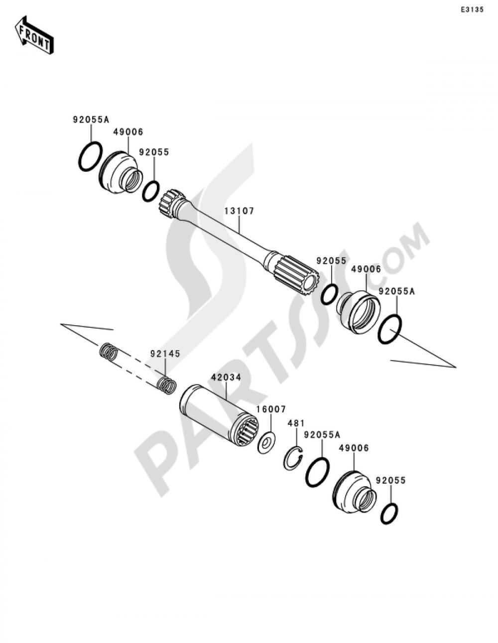SPRING PROPELLER SHAF Kawasaki 92145-1304