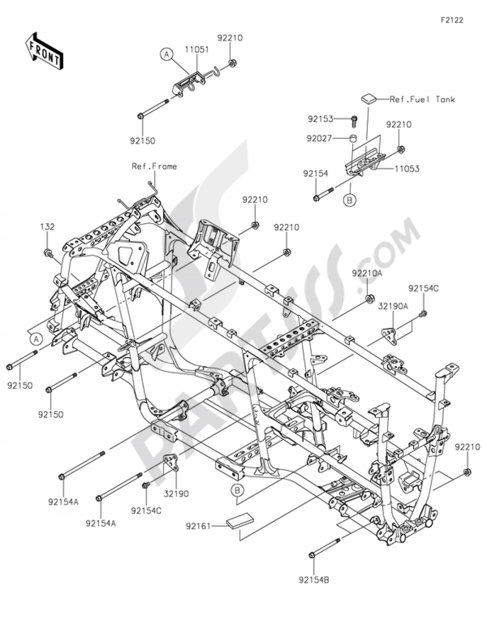 Engine Mount Kawasaki Brute Force 750 4x4i Eps 2015 Mounting Diagrams