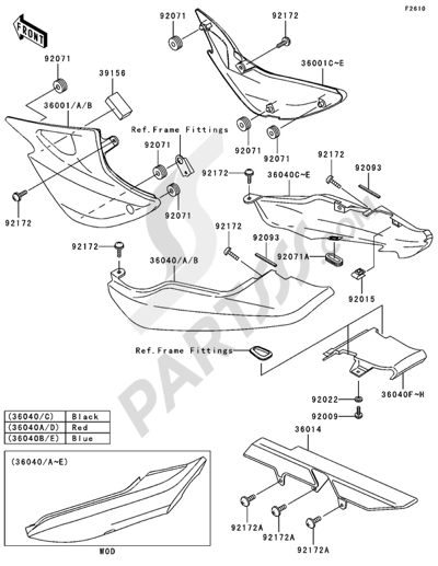 Kawasaki Er 5 2005 Dissassembly Sheet Purchase Genuine Spare Parts