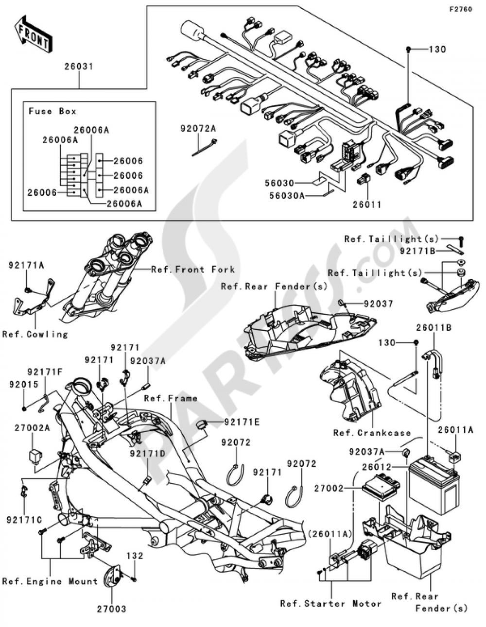 chassis electrical equipment kawasaki er