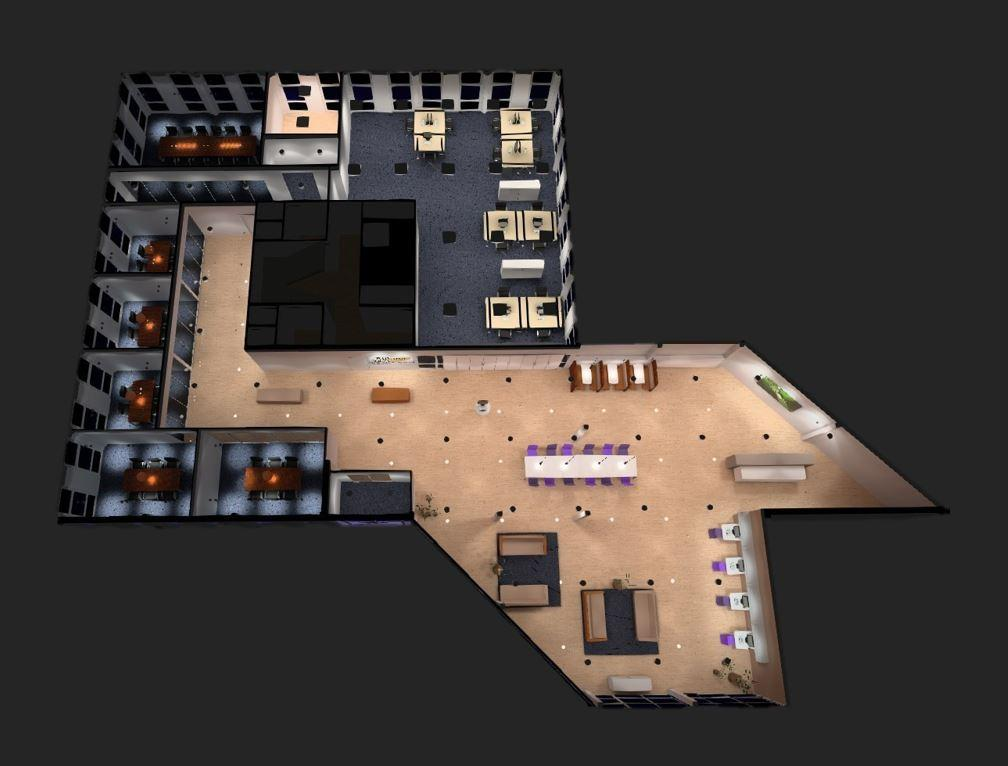 Lichtplan Lichtontwerp 3 D LED2