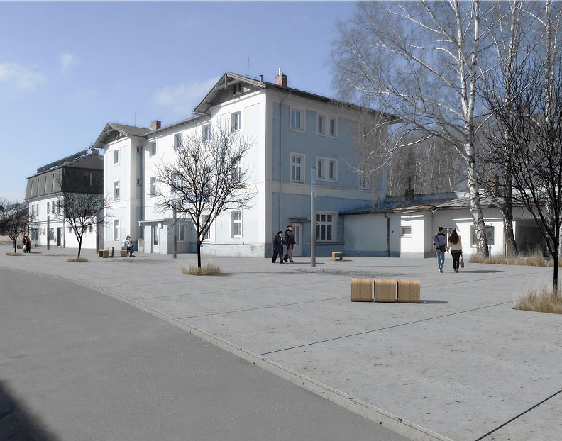 Revitalization of place in front of the Railway station, Hlinsko(2016)