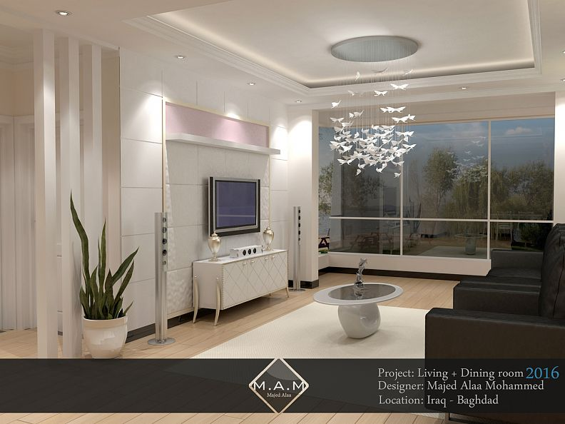 Living Room Design   Design By: Majed Alaa