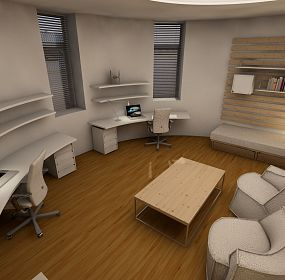 Design of circular room in student dormitory