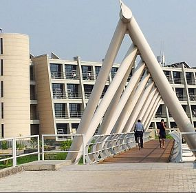 IIM Tetrahedron Steel bridge, IIM