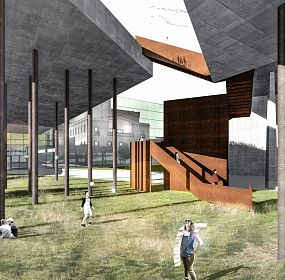 New gallery building in Yerevan, Armenia, competition project 1