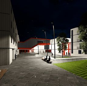 campus by night