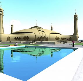 Mosque in the Kyrgyz national style