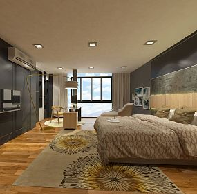 Residential Bedroom Contemporary Design